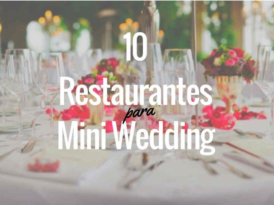 Restaurantes Mini Wedding